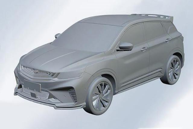 尺寸超缤智 吉利SX11运动版专利图曝光