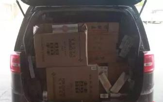 东兴金滩查获走私飞艇 一船香烟案值27万!