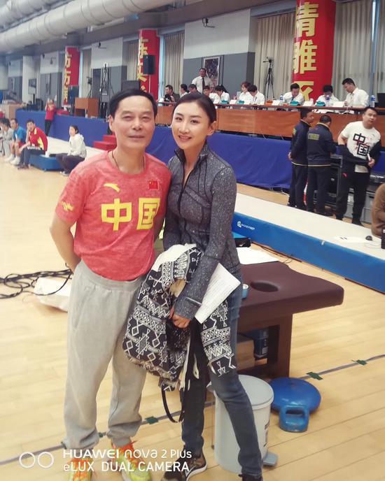 何雯娜与胡星刚教练