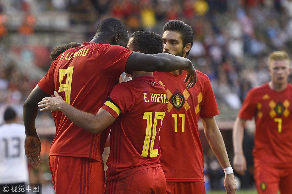 友谊赛-卢卡库阿扎尔各进1球 比利时3-0胜埃及