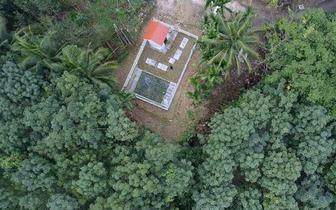 琼中人工湿地污水处理系统既独特又美观
