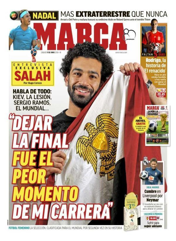 萨拉赫:欧冠决赛受伤险摧毁我 埃及进世界杯=夺冠