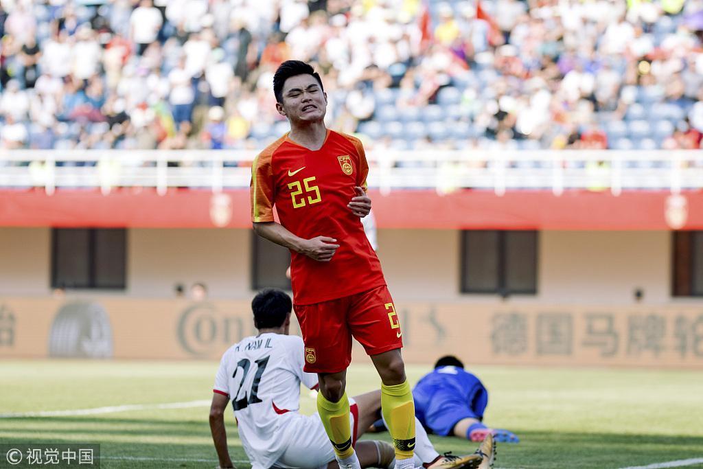 热身-10分钟4球黄紫昌2射3传 U23国足6-2大胜朝鲜
