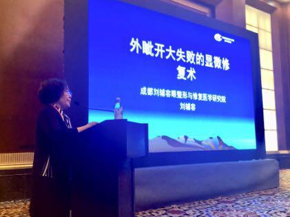 引领中国显微眼整形 刘辅容在分论坛发表演讲