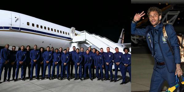 巴西飞抵俄罗斯内少比V 23位西装型男帅炸