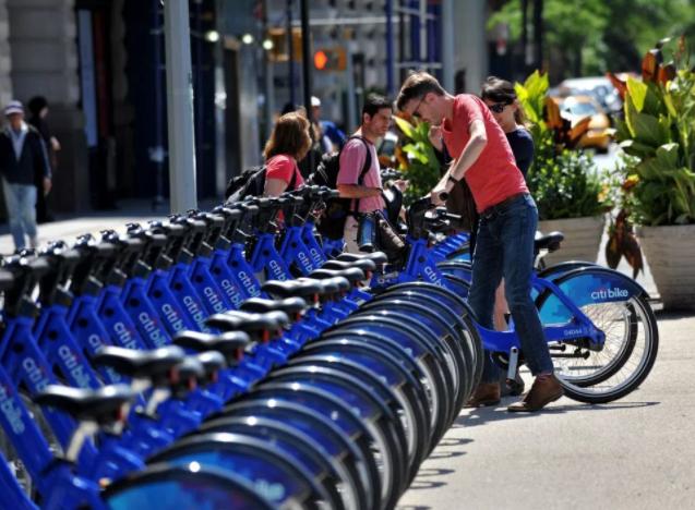 """Motivate在纽约推出的""""Citi Bike""""品牌"""