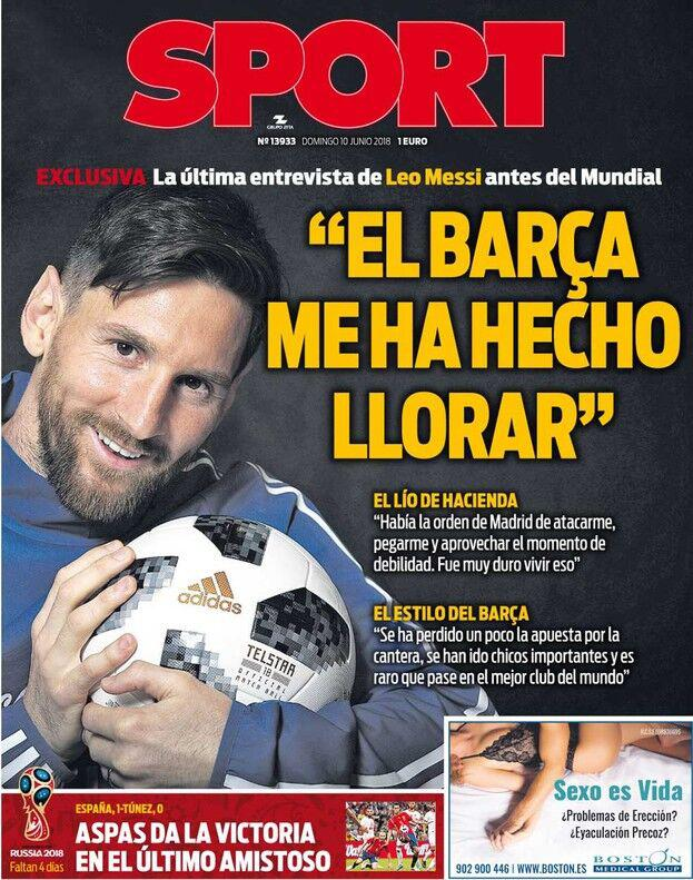 梅西:税案是马德里的攻击 世界杯后或退出国家队