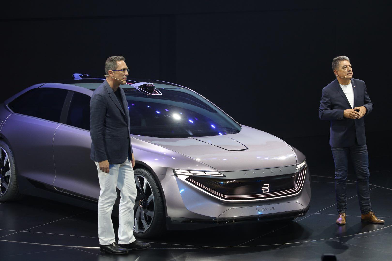 拜腾全球首发概念轿车K-Byte 融合自动驾驶新元素