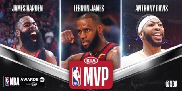 下赛季NBA常规赛MVP赔率:哈登屈居第二 库里第7