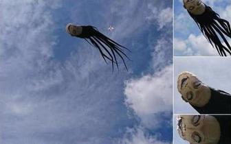 台湾现富江人头风筝 大白天也很吓人啊