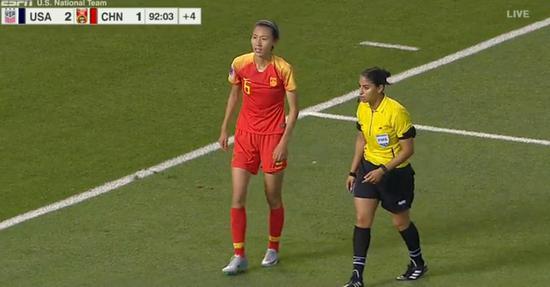 热身-李影铲射难救主 中国女足1-2再负世界第1美国
