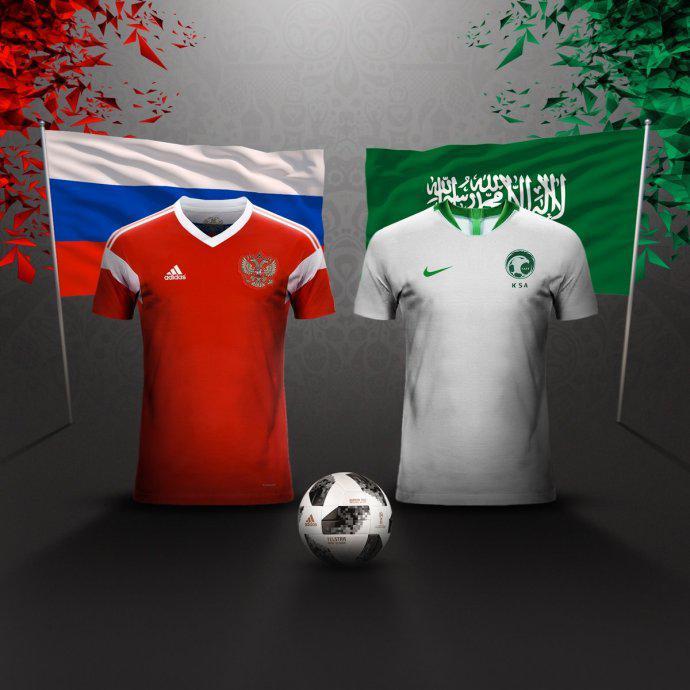 揭幕战俄罗斯VS沙特首发出炉:东道主祭出最强阵!
