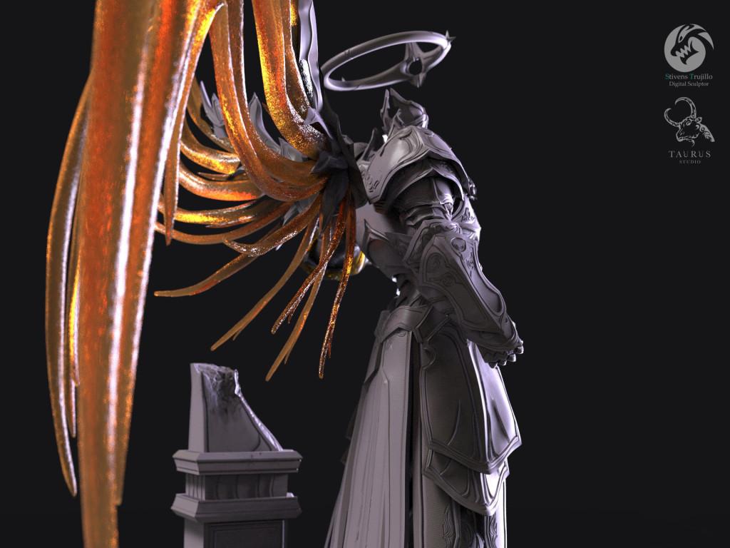 国外暗黑粉丝制超还原大天使英普瑞斯雕像
