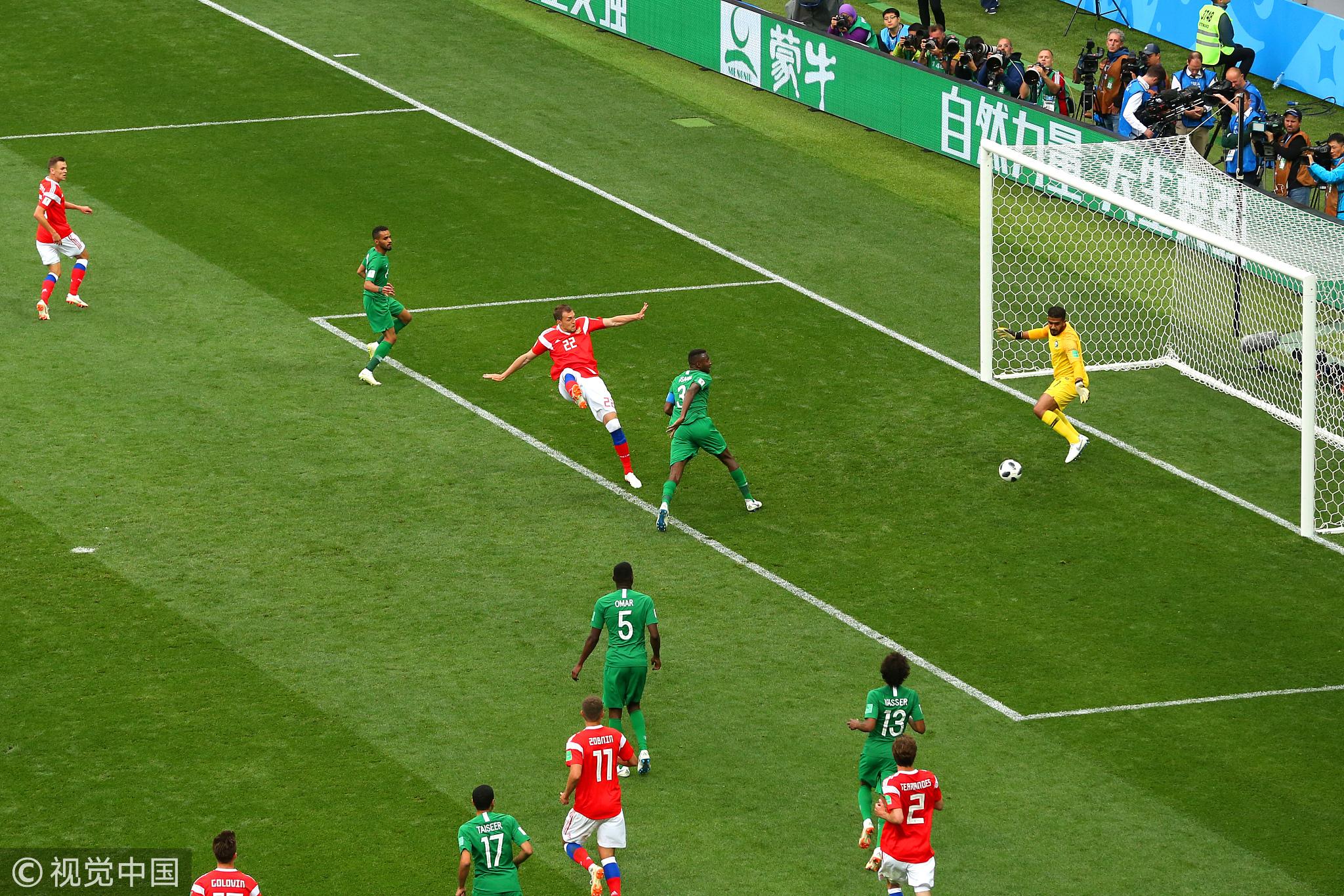 2018俄罗斯世界杯揭幕战东道主5-0大胜沙特