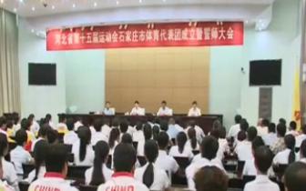 河北省第十五届运动会石家庄代表团举行誓师