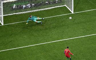 C罗戴帽科斯塔两球:葡萄牙3-3西班牙