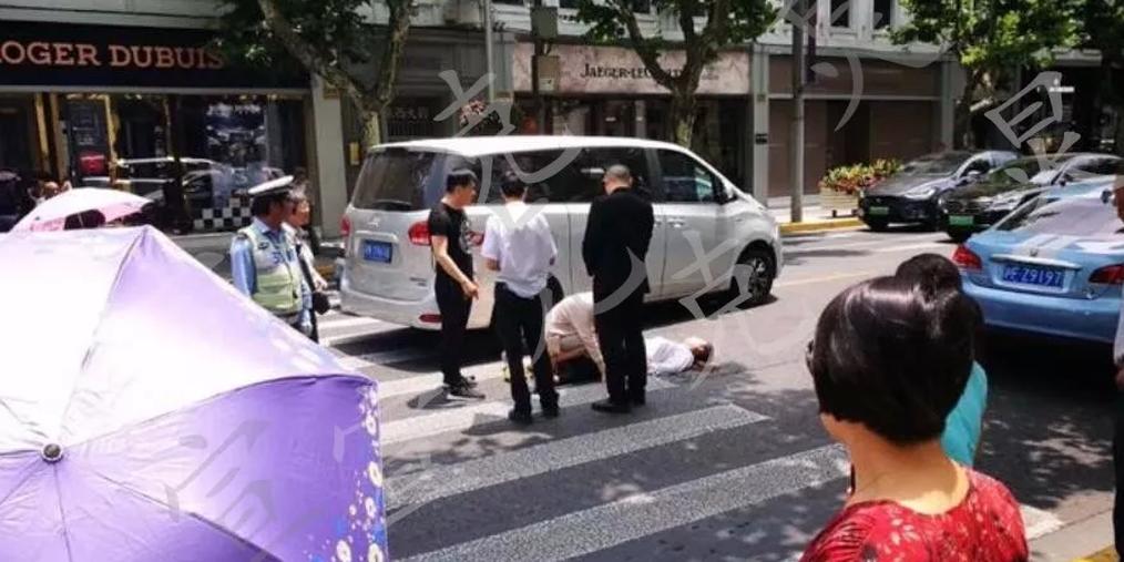 南京西路上1男1女被撞身亡 女子仅22岁