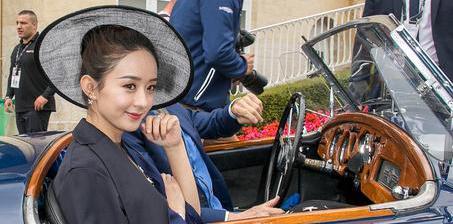 赵丽颖法国出席活动享巨星待遇