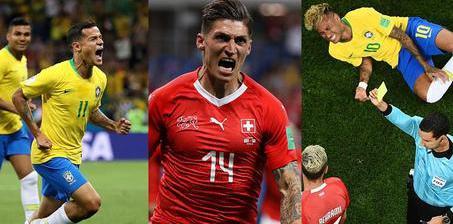 库蒂尼奥超级世界波内马尔无功 巴西1-1瑞士