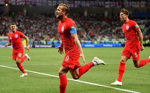 凯恩梅开二度+补时绝杀 英格兰2-1