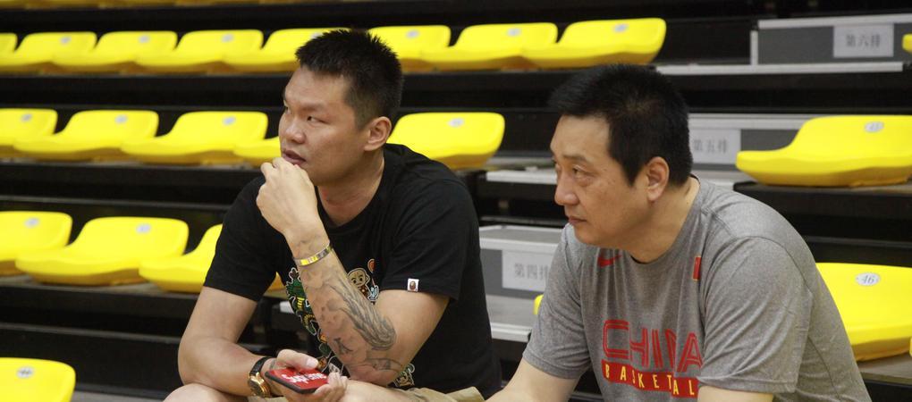 朱芳雨到场观战全国U19青年男篮联赛
