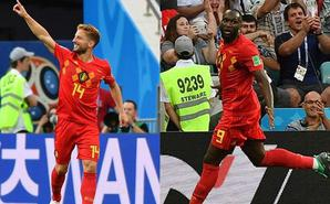默滕斯神仙球卢卡库2球 比利时3-0