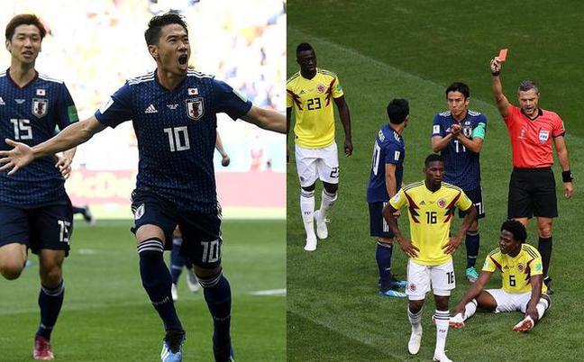 首张红牌诞生!香川点射日本2-1