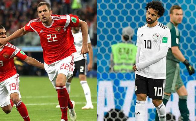 俄罗斯3-1埃及 萨拉赫破门难获一胜