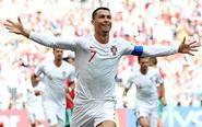 C罗破门 葡萄牙VS摩洛哥