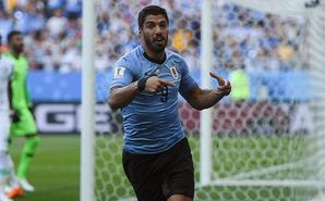 乌拉圭1-0沙特 与俄罗斯提前出线