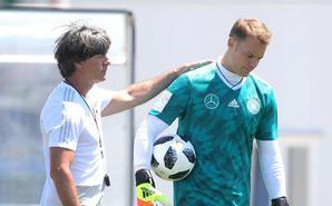 德国训练勒夫亲自指点诺伊尔