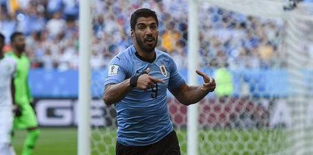 苏神破门乌拉圭1-0沙特 与俄罗斯提前出线