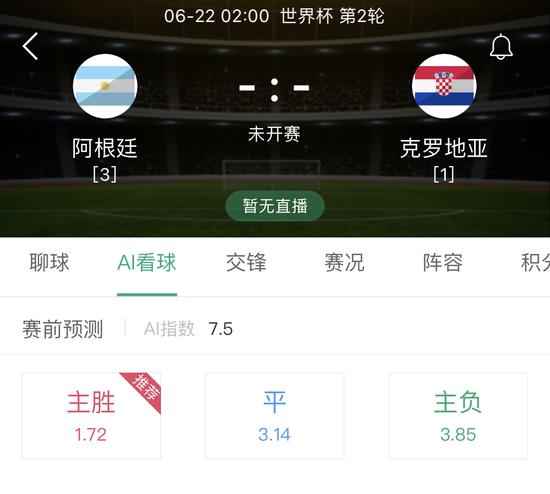 [AI足球]世界杯:阿根廷背水一战 克罗地亚有隐患