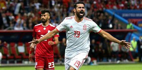科斯塔破门西班牙1-0伊朗 积4分追平葡萄牙