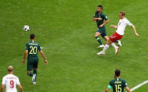 埃里克森破门:丹麦1-1澳大利亚