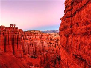 荒漠峡谷里亮丽的风景线,