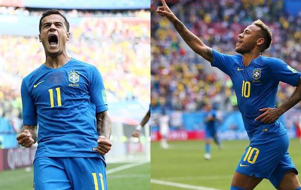 库鸟内马尔补时两连击 巴西2-0