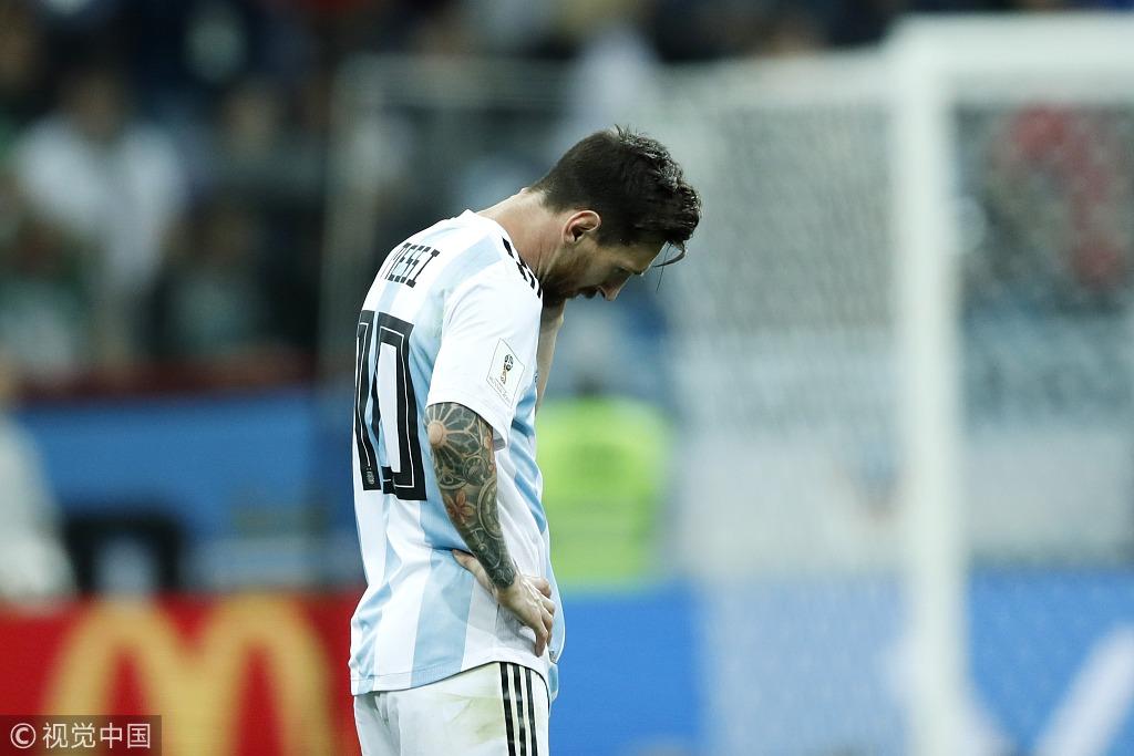 阿根廷世界杯历史4次大比分惨败 梅西1人独占