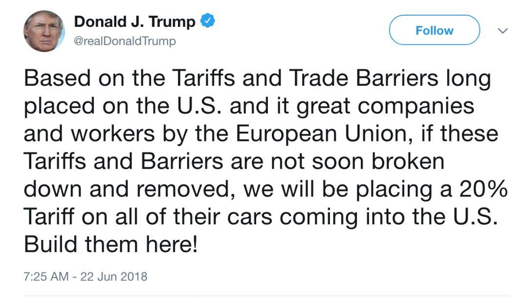 特朗普引爆新争端 欧美贸易战正式开打!