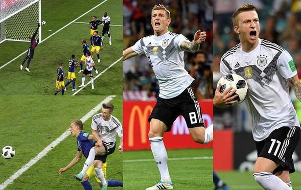刺激!克罗斯读秒绝杀 德国2-1瑞典
