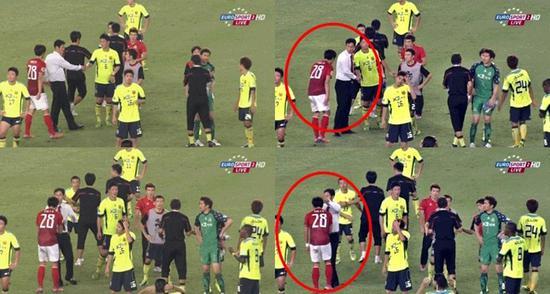 亚冠决赛恒大击败首尔后,主动跑去向对手主帅崔龙洙鞠躬问好。