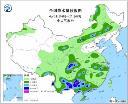 西南等地有分散性强降雨 华北地区有高温