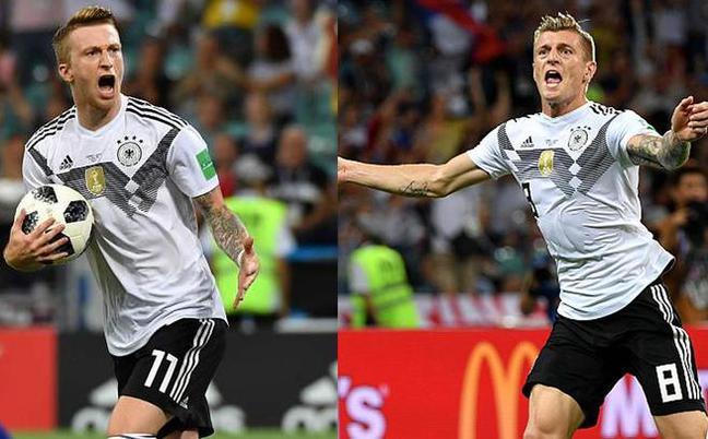 罗伊斯破门克罗斯绝杀 德国2-1瑞典