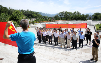 王克强率人大机关全体党员赴琼中开展主题党日活动