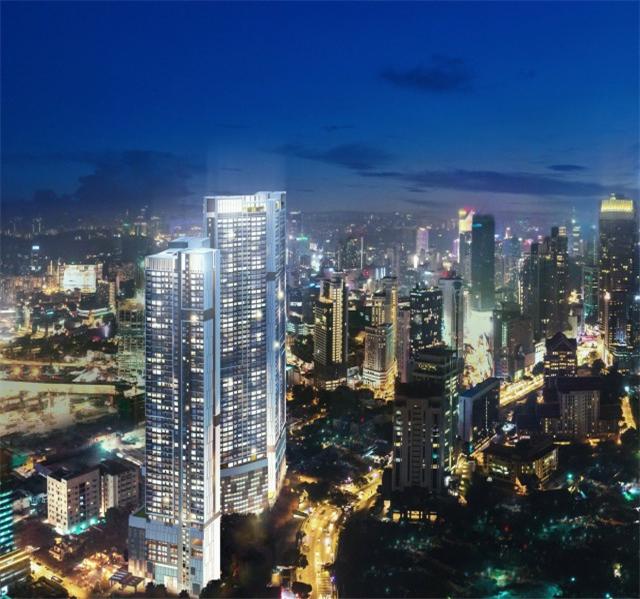 双子塔旁高级公寓 高实用率户型