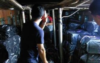 台湾澎湖离岛交通船夜晚不载客 走私香烟被查获