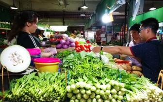 暴雨频繁光顾 南宁市场菜价蹭蹭蹭往上涨