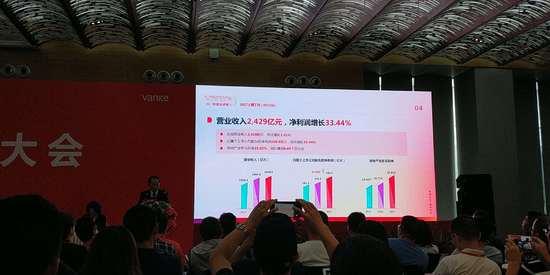 万科企业2017年净利润增长33.44% 分红99.35亿元