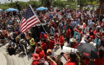美国爆发大规模示威抗议移民政策 至少575人被捕
