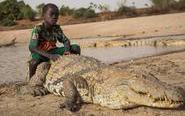 人与鳄鱼毗邻而居